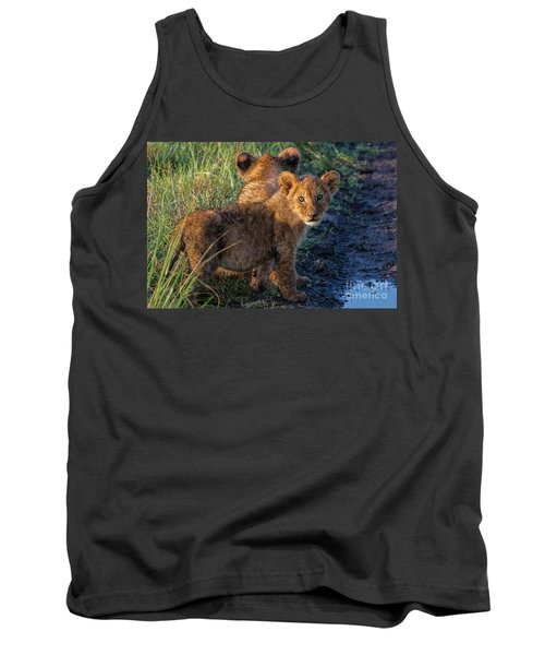 Tank Top featuring the photograph Double Trouble by Karen Lewis
