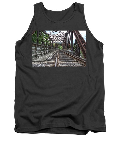 Double Truss Bridge #1679 On The Wmsr Tank Top by Jeannette Hunt