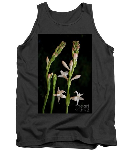 Double Tuberose In Bloom #2 Tank Top