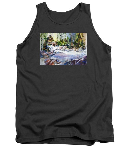 Down Stream On Hoppers Creek Tank Top by P Anthony Visco