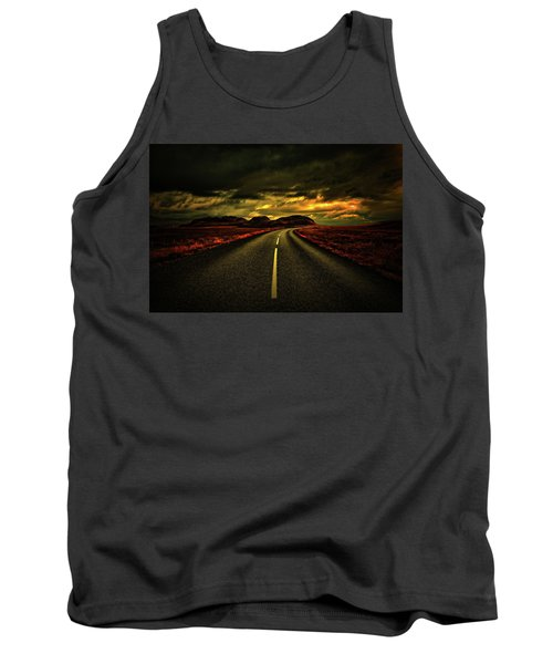 Tank Top featuring the photograph Down The Road by Scott Mahon