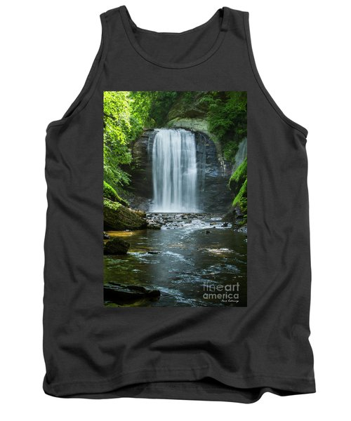 Tank Top featuring the photograph Downstream Shade Looking Glass Falls Great Smoky Mountains Art by Reid Callaway