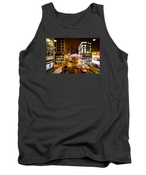 Downtown In The Itty-bitty City Tank Top by Randy Scherkenbach
