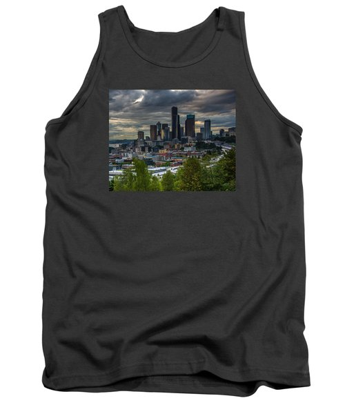 Tank Top featuring the photograph Downtown by Jerry Cahill