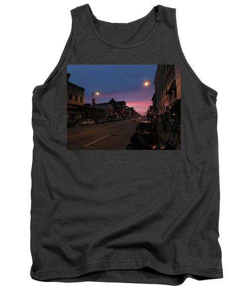 Tank Top featuring the photograph Downtown Racine At Dusk by Mark Czerniec