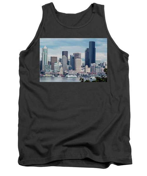 Downtown Seattle And Ferries Tank Top