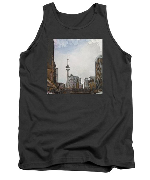 Downtown Toronto In Color Tank Top