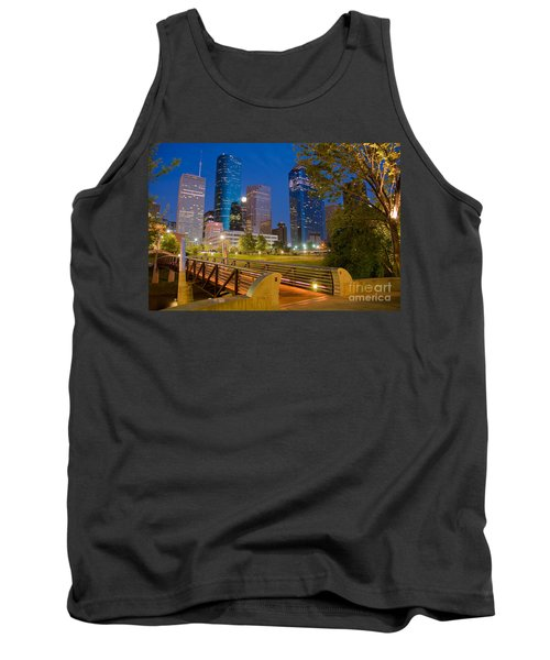 Dowtown Houston By Night Tank Top