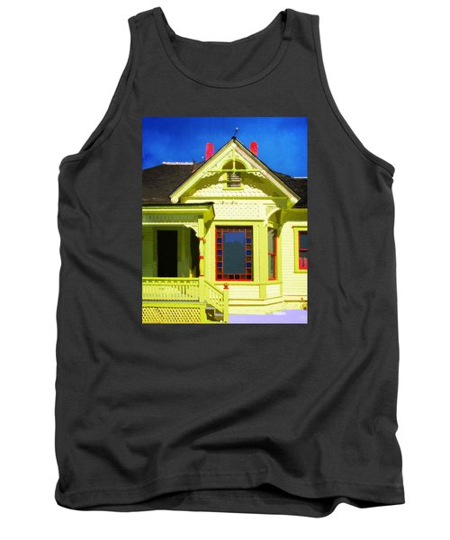 Tank Top featuring the photograph Dr. Clark's House 2 by Timothy Bulone