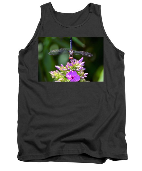 Dragonfly And Phlox Tank Top by Kathy Eickenberg