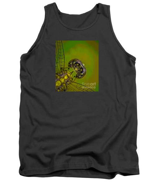 Tank Top featuring the mixed media Dragonfly Detail by Kim Henderson