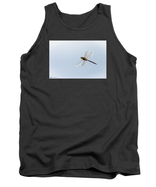 Dragonfly In Flight Tank Top by Teresa Blanton