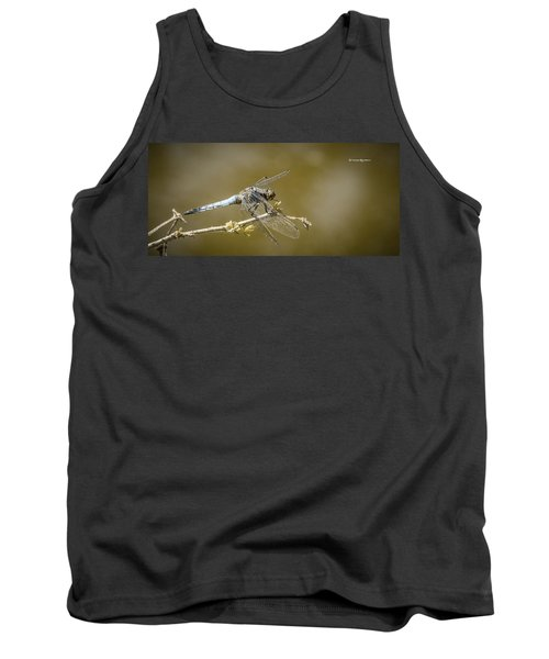 Tank Top featuring the photograph Dragonfly On The Spot by Stwayne Keubrick