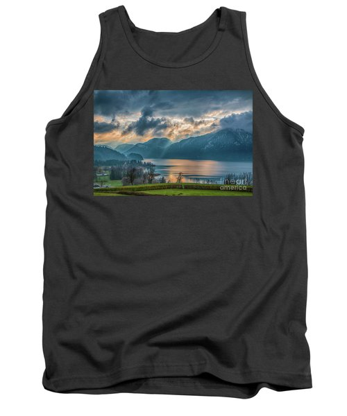 Dramatic Sunset Over Mondsee, Upper Austria Tank Top