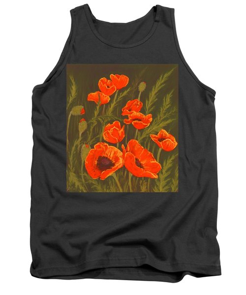 Tank Top featuring the painting Dream Of Poppies by Anastasiya Malakhova