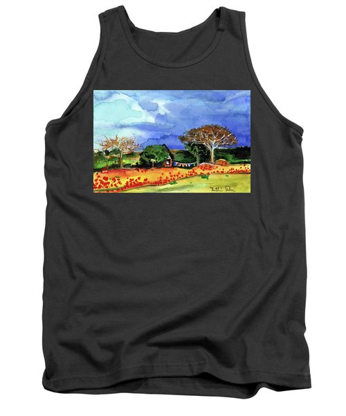 Tank Top featuring the painting Dreaming Of Malawi by Dora Hathazi Mendes