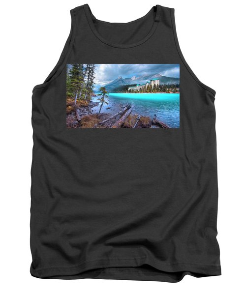 Tank Top featuring the photograph Dreamy Chateau Lake Louise by John Poon
