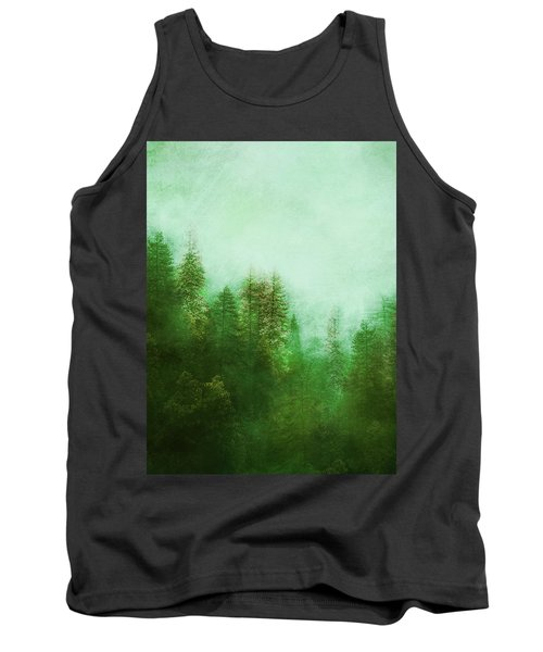 Tank Top featuring the digital art Dreamy Spring Forest by Klara Acel