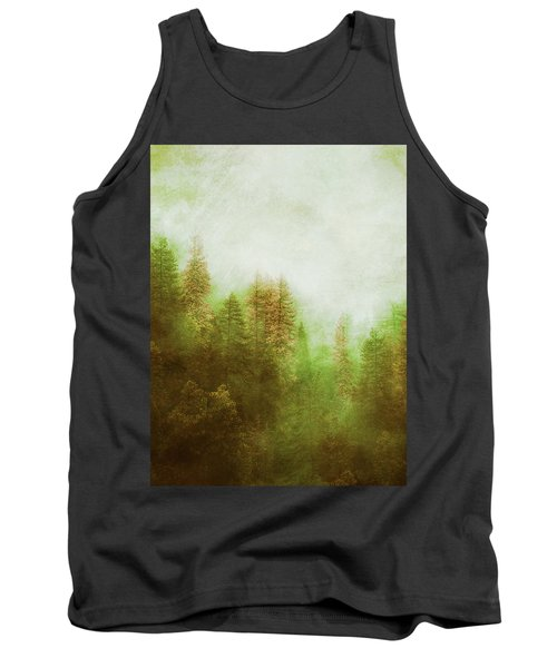 Tank Top featuring the digital art Dreamy Summer Forest by Klara Acel