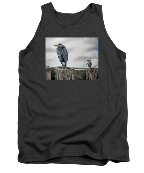 Tank Top featuring the photograph Dreay Day At The Ocean by Jerry Cahill