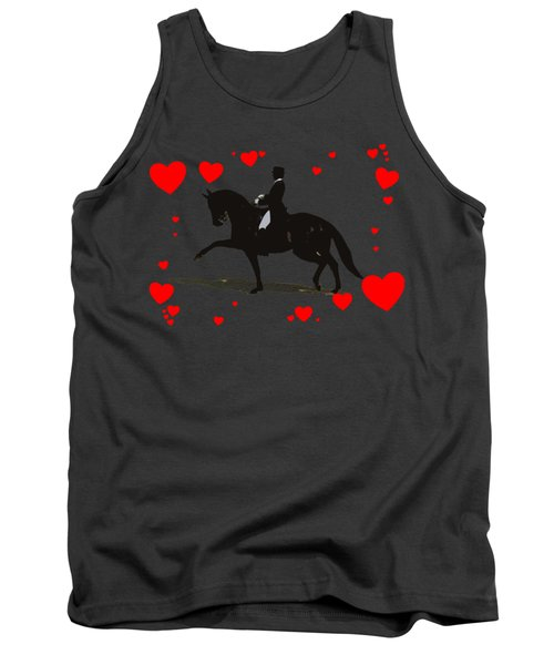 Dressage With Hearts Tank Top by Patricia Barmatz