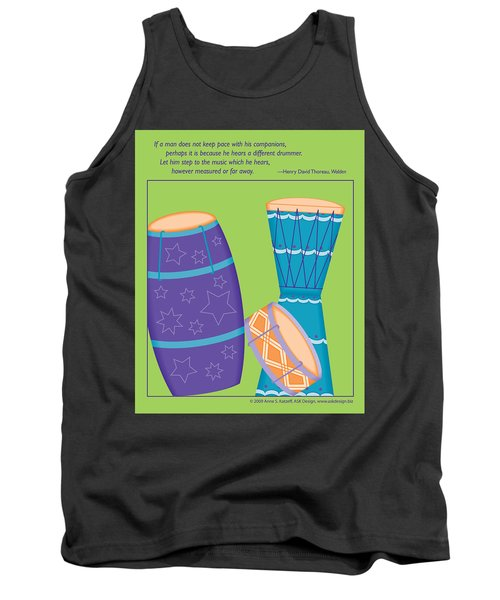Drums - Thoreau Quote Tank Top