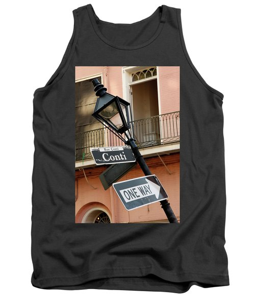 Drunk Street Sign French Quarter Tank Top
