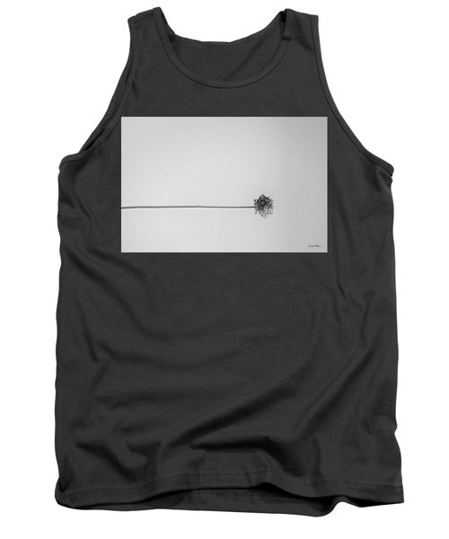 Dry Flower - Black And White Art Photo Tank Top by Modern Art Prints