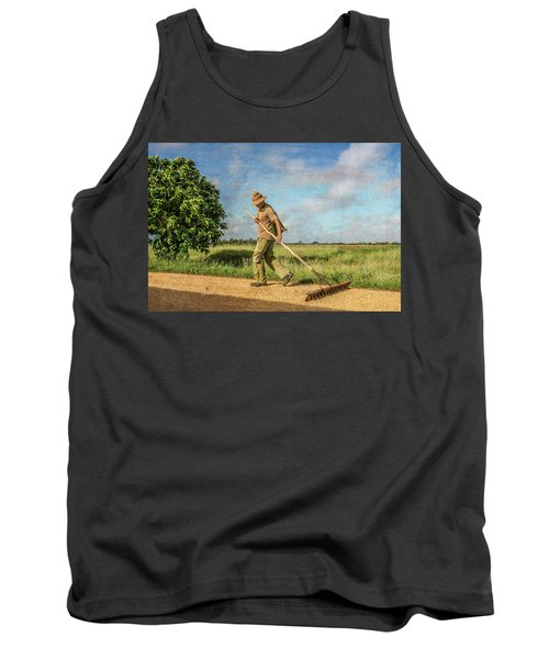 Tank Top featuring the photograph Drying Rice by Lou Novick