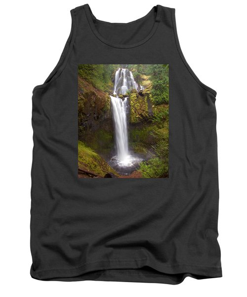 Tank Top featuring the photograph Dual Cascade by Todd Kreuter