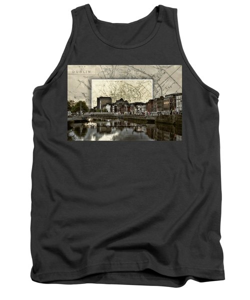 Dublin Skyline Mapped Tank Top