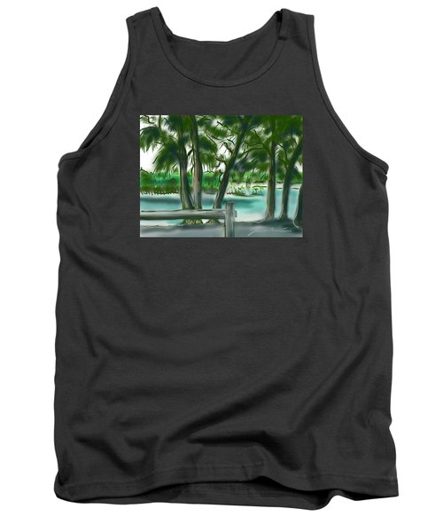 Tank Top featuring the painting Dubois Park Lagoon by Jean Pacheco Ravinski