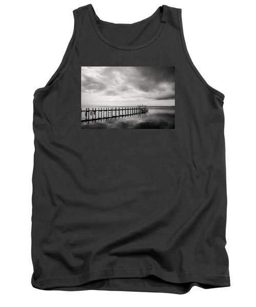 Duck Pier In Black And White Tank Top