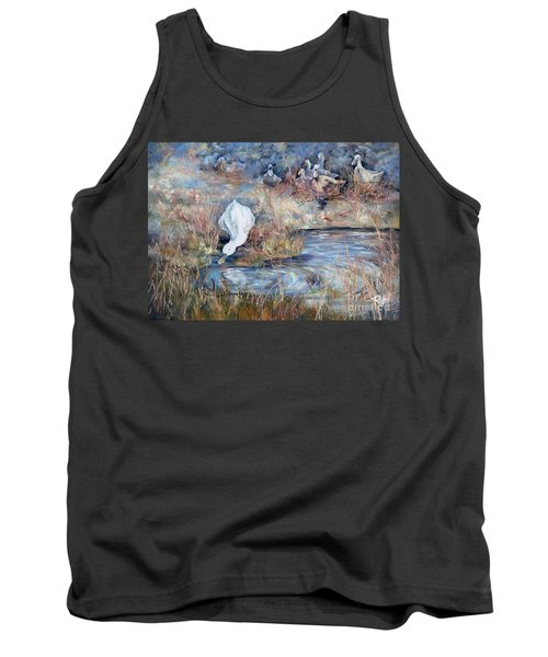 Ducks. Split Opposite Colour Harmony.  Tank Top