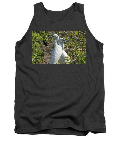 Dueling Egrets Tank Top