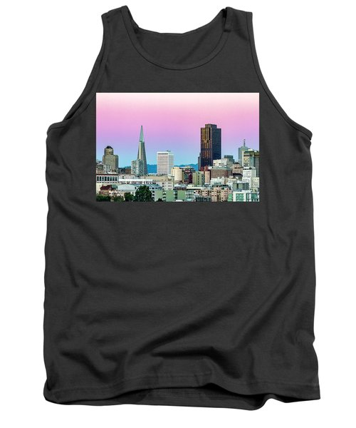 Tank Top featuring the photograph Dusk In San Francisco by Bill Gallagher