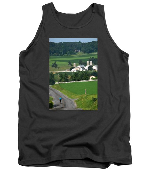 Dutch Country Bike Ride Tank Top by Lawrence Boothby