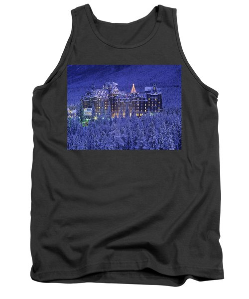 D.wiggett Banff Springs Hotel In Winter Tank Top