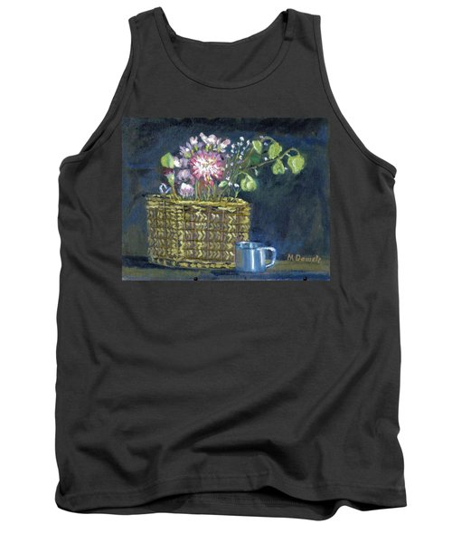 Tank Top featuring the painting Dying Flowers by Michael Daniels