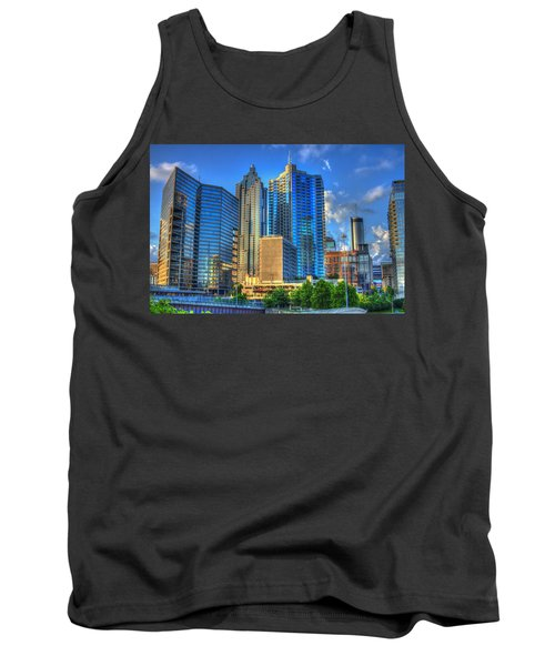 Dynamic Reflections Downtown Atlanta Georgia Art Tank Top