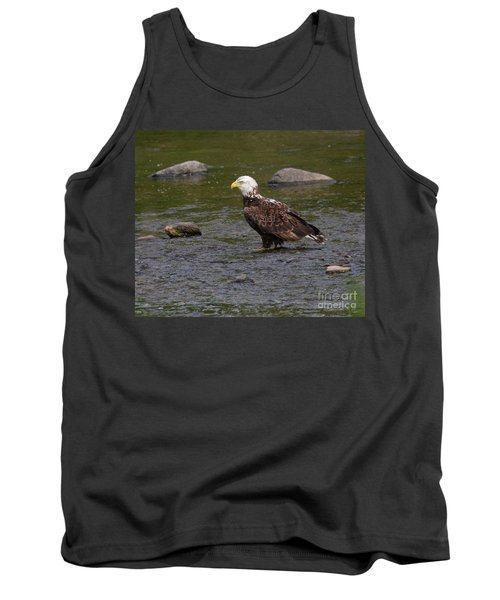 Tank Top featuring the photograph Eagle Deep In Thought by Debbie Stahre