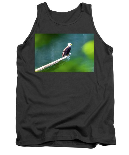Eagle In Lake Tank Top