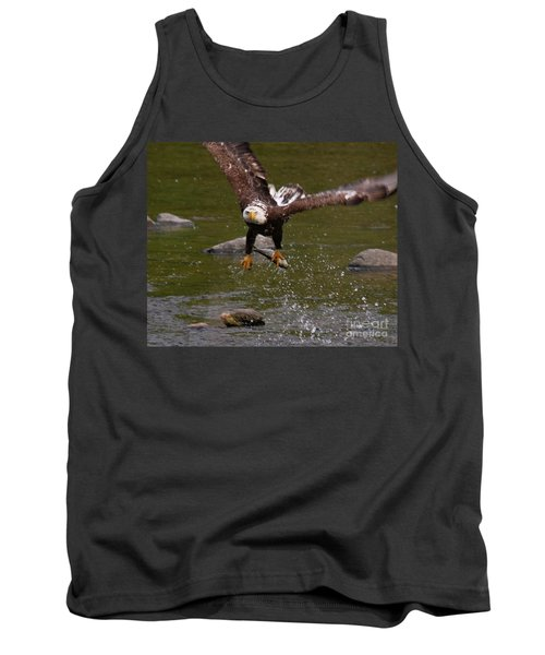 Tank Top featuring the photograph Eagle Over Seal Rock by Debbie Stahre