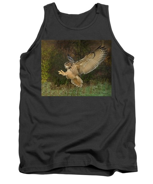 Eagle-owl Wings Back Tank Top by CR Courson