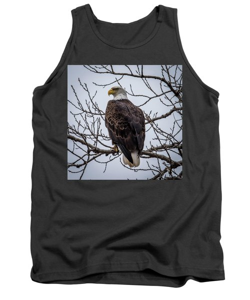 Tank Top featuring the photograph Eagle Perched by Paul Freidlund