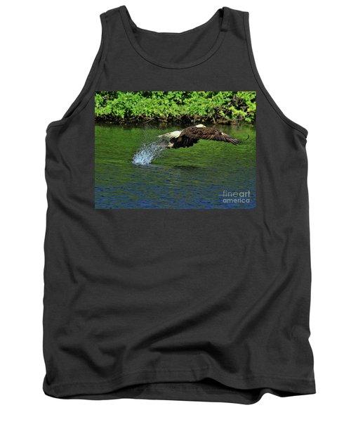 Tank Top featuring the photograph Eagle Series Fish Catch by Deborah Benoit