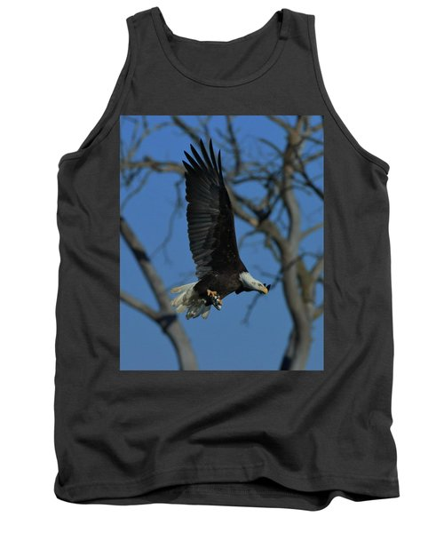 Eagle With Fish Tank Top by Coby Cooper