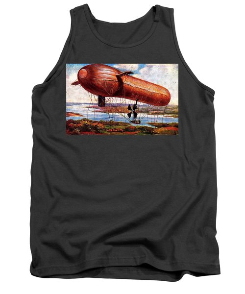 Tank Top featuring the painting Early 1900s Military Airship by Peter Gumaer Ogden
