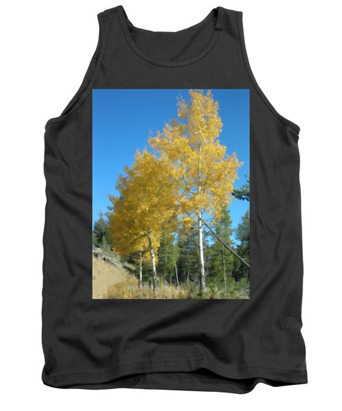 Early Autumn Aspens Tank Top