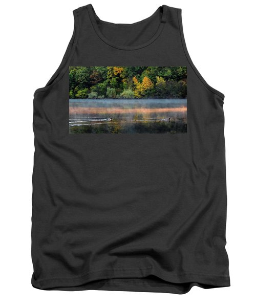Early Autumn Morning At Longfellow Pond Tank Top